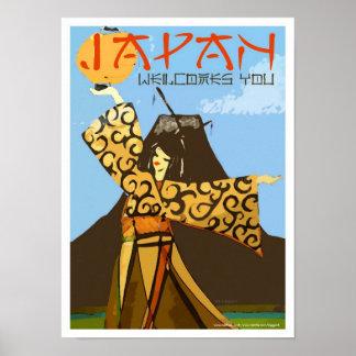 Japón le acoge con satisfacción arte del poster