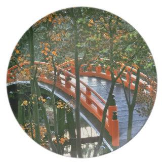 Japón, Nara Pref., Nara. El puente real brilla int Platos De Comidas