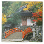 Japón, Nara, templo de Ryuzenji Azulejo Cuadrado Grande