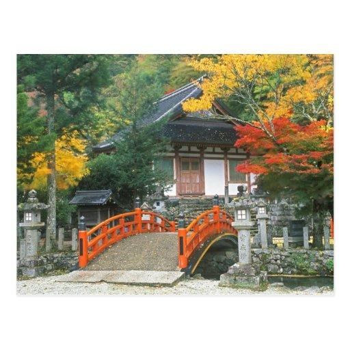 Japón, Nara, templo de Ryuzenji Tarjeta Postal