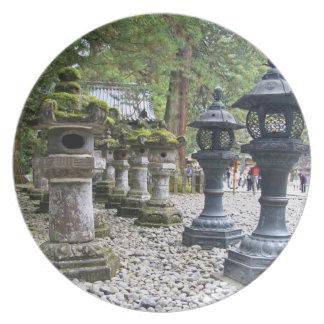 Japón, Nikko. Capilla y mausoleo de Toshogu adentr Plato De Comida