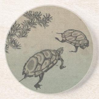 Japón Prácticos de costa de la tortuga del vintag Posavasos Cerveza