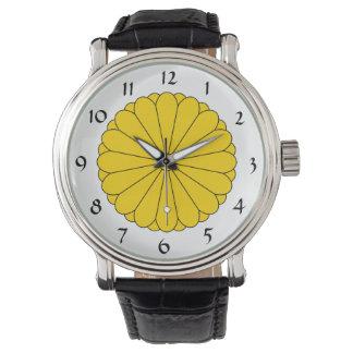 Japón - reloj imperial del escudo