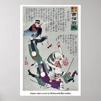 Japón se lleva por Kobayashi, Kiyochika Póster