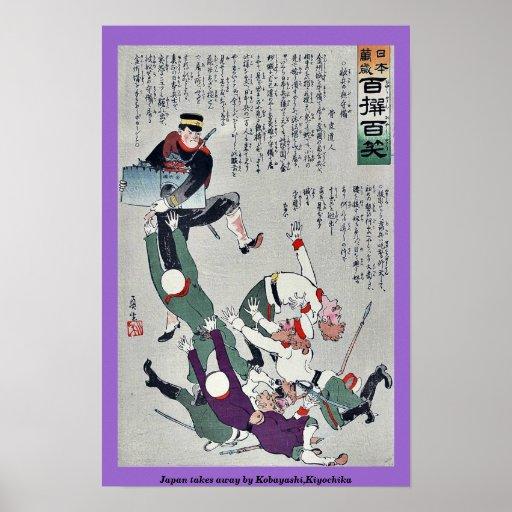 Japón se lleva por Kobayashi, Kiyochika Poster