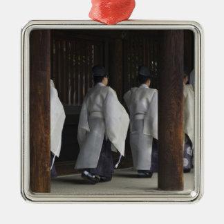 Japón, Tokio, festival del otoño de la capilla de Adorno Cuadrado Plateado