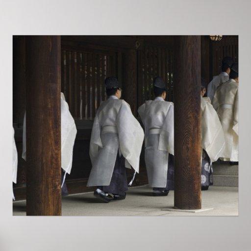 Japón, Tokio, festival del otoño de la capilla de  Impresiones
