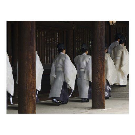 Japón, Tokio, festival del otoño de la capilla de Tarjeta Postal