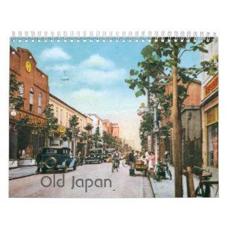 Japón viejo - calendario del vintage modificado