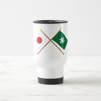 Japón y banderas cruzadas Iwate Taza De Café