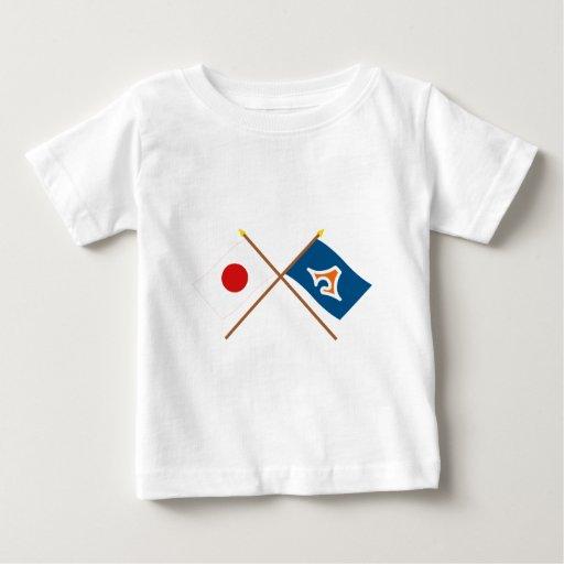 Japón y banderas cruzadas Shizuoka Playera