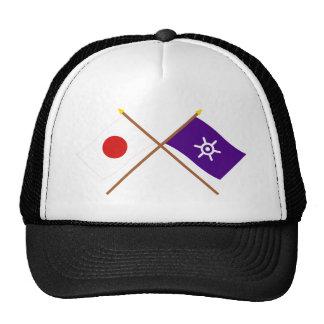 Japón y banderas cruzadas Tokio Gorro