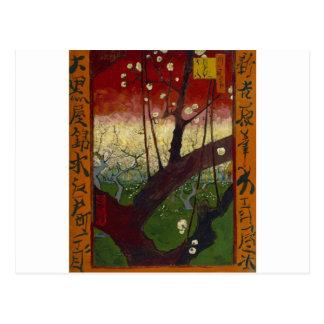 Japonaiserie de Van Gogh después de Hiroshige Postales