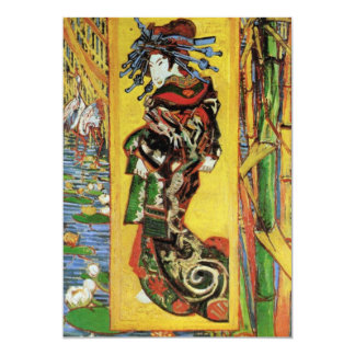Japonaiserie Oiran after Kesa Eisen by van Gogh Card
