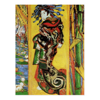 Japonaiserie Oiran after Kesa Eisen by van Gogh Postcard