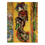 Japonaiserie, Oiran (Courtesan) Van Gogh Fine Art Postcard