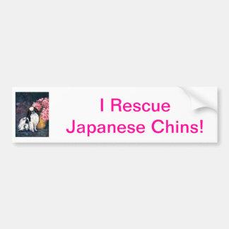 Japonés Chin Pegatina De Parachoque