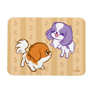 Japonés Chin de los perritos de Kawaii que se Iman