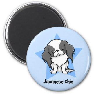 Japonés Chin del negro de la estrella de Kawaii Imán De Frigorifico