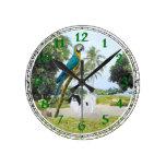 Japonés Chin y Macaw Reloj
