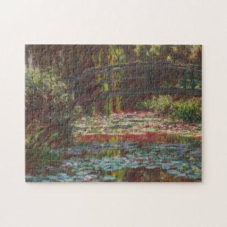 ~ japonés Claude Monet de los lirios del puente y Puzzle Con Fotos