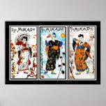 Japonés del arte del vintage del poster el Mikado