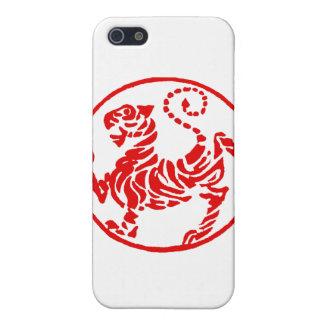 Japonés del tigre del sol naciente de Shotokan - k iPhone 5 Carcasa
