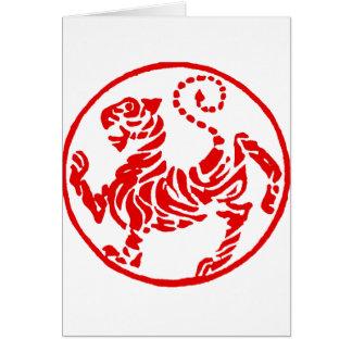 Japonés del tigre del sol naciente de Shotokan - k Tarjeta De Felicitación
