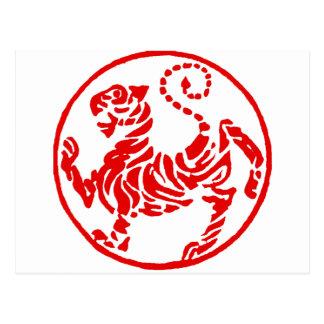 Japonés del tigre del sol naciente de Shotokan - Postal