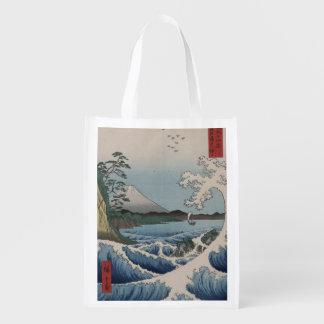 Japonés del vintage el mar de Satta Bolsas Reutilizables