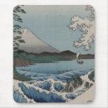 Japonés del vintage el mar de Satta Alfombrilla De Ratones