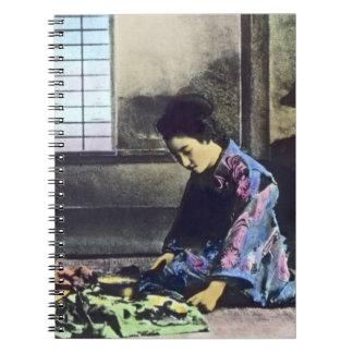 Japonés del vintage la linterna mágica de la costu libreta