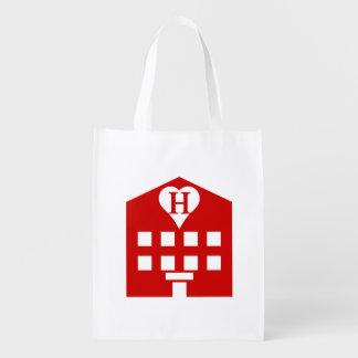 Japonés Emoji del hotel del amor Bolsa De La Compra