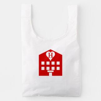 Japonés Emoji del hotel del amor Bolsa Reutilizable