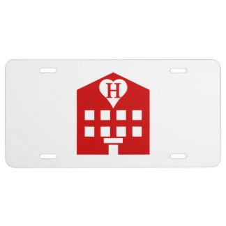Japonés Emoji del hotel del amor Placa De Matrícula