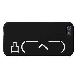 Japonés enojado Kaomoji del Emoticon del dedo iPhone 5 Carcasa