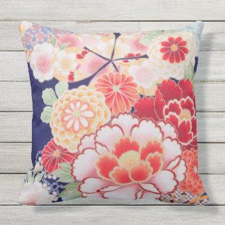 Japonés floral del vintage de la multa hermosa del cojín