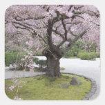 Japonés Gardern, Portland, Oregon de Portland, Pegatina Cuadrada