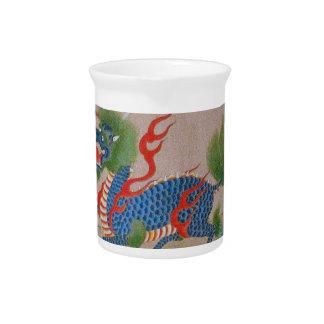 Japonés, jarra del dragón de Shuri