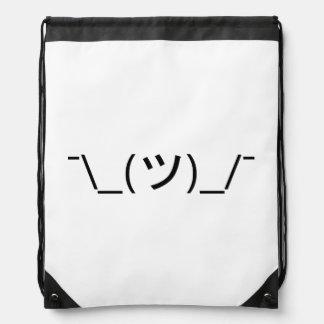 Japonés Kaomoji del Emoticon del encogimiento de h Mochila