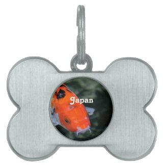 Japonés Koi Placa De Mascota