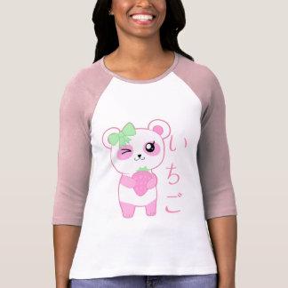 Japonés lindo del oso de panda de Kawaii del rosa Camisetas
