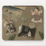 Japonés Mousepad del vintage Alfombrilla De Ratón