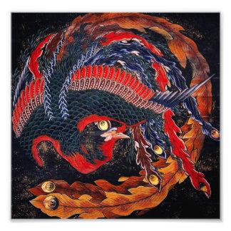 Japonés Phoenix de Hokusai Arte Con Fotos