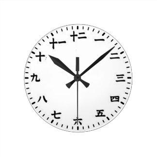 Japonés Reloj Redondo Mediano
