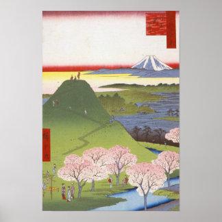 "Japonés Ukiyo-e Hiroshige de ""nuevo Fuji"" Póster"