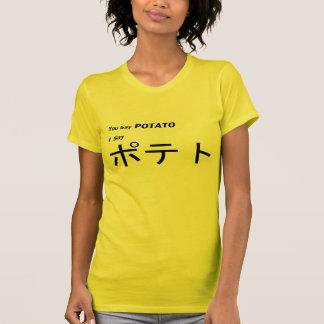 "Japonés ""usted dice la patata "" poleras"