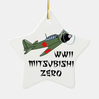 Japonés Warbird de WWII Adorno Navideño De Cerámica En Forma De Estrella