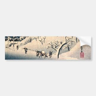 Japonés Winterscape no.3 Pegatina Para Auto