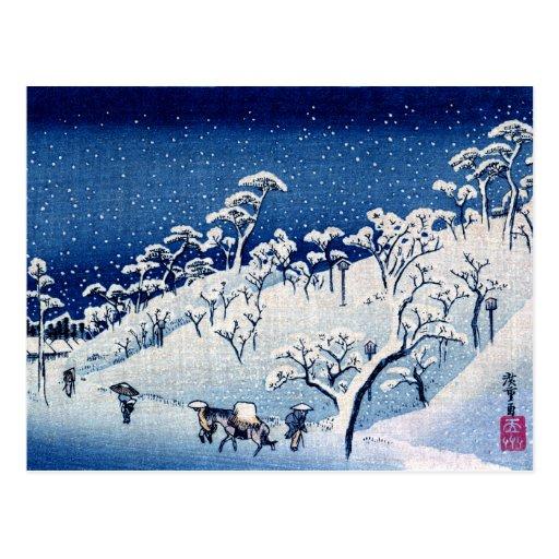 Japonés Winterscape no.4 Postales